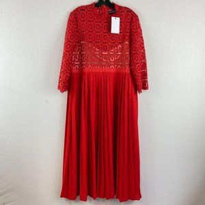LITTLE MISTRESS Red Lace Top Dress NWT